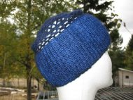 Pine Needle Farm Cashmere Netted hat/headband