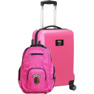 Mojo Licensing NCAA Deluxe 2 Piece Backpack and Carry-On Set - Pink Montana Grizzlies - Mojo Licensing Luggage Sets