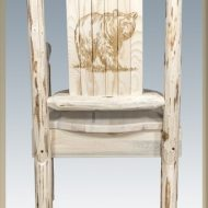 Montana Woodworks MWCASCNLZBEAR Captains Chair with Laser Engraved Bear Design