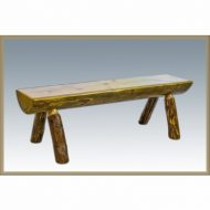 Montana Woodworks MWGCHLB6EXT 6 ft. Glacier Country Half Log Bench, Exterior Stain