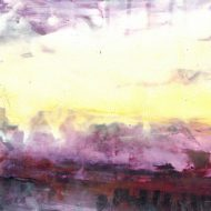 Original Abstract Painting by Deb Chaney | Abstract Art on Paper | Montana Sky