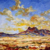 Original Landscape Painting by Kevin Heaney | Impressionism Art on Canvas | Montana Sunset