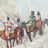 Original People Painting by Allen Spencer | Fine Art Art on Paper | Blackfeet Tribe 1900's Montana