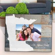 Personalized Picture Frames - Souvenir Home State Frame